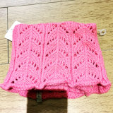 100% Cotton or Acrylic Children's Knitted Winter Round Scarf