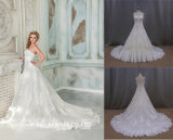 Vestido de casamento nupcial do vestido do Applique do laço da alta qualidade
