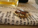 Кольца для желания 8X женщин симпатичного ретро помечают буквами горячие кольца пар
