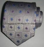 La cravate contrôlée par jacquard tissée par soie des hommes personnalisés