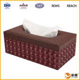 Caja hecha a mano excelente del tejido del cuero de la alta calidad de la mejor venta