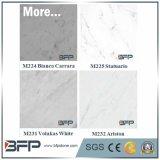 Естественные слябы Bianco Carrara белые мраморный для верхних частей и плиток приема гостиницы Sheraton