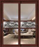 Porte coulissante en aluminium de couleur grise élégante de luxe de mode