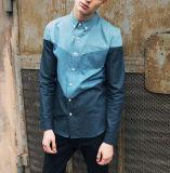 2016 Herbst spätestes 100%Cotton Mix Colors Casual Long Sleeve Men Denim Shirt