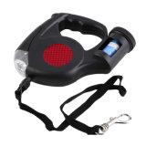 Correo retractable del perro con la luz del LED y el dispensador del bolso de la basura