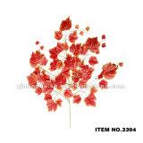 도매 인공적인 잎 고품질 플라스틱 인공적인 포도 잎 3396