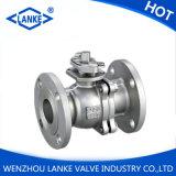 Válvula de esfera do aço inoxidável do ANSI 150lb para a água