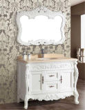 Mirror를 가진 높은 Quality Solid Wood Floor Bathroom Vanity