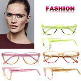 Het in het groot Frame Van uitstekende kwaliteit van de Glazen van de Glazen van Eyewear van het Ontwerp van de Manier van Oogglazen Optische Optische