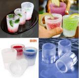 4セルDIYガラス形のシリコーンの角氷メーカー、氷の打撃メーカー
