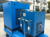 Air Cooled industrial elétrica Screw Compressor de ar com a Air Dryer