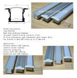 perfil de alumínio do diodo emissor de luz da espessura da largura 7mm de 12mm para a barra clara do diodo emissor de luz