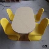 ホテル(T1703045)のためにセットされる4 Seatersの人工的な石造りのダイニングテーブル