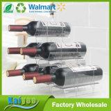 Sostenedor de botella amontonable de vino del ahorrador del espacio de la estabilidad y de la seguridad del hogar