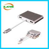 USB3.1/F+VGA/F+1*USB3.0+2*USB2.0へのタイプCアダプターUSB 3.1/M