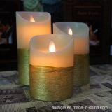 Bewegliche Kerze des Ölerfilz-LED mit Kerzen der Batterie-3*AAA