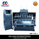 Machine de découpage en bois plate et rotatoire de Multi-Tête de machine de travail du bois