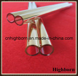Tubulação gêmea da câmara de ar de vidro de quartzo de Coatd do ouro da resistência térmica