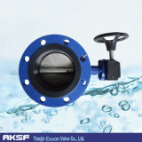 DIN Dn100 Handle 또는 Worm Gear Flange Butterfly Valve
