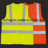 Veste reflexiva da segurança, veste reflexiva do amarelo reflexivo da segurança, veste reflexiva alaranjada, vestes da segurança de tráfego, fornecedor da veste da segurança da estrada