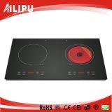 家庭電化製品、台所用品、赤外線ヒーター、ストーブの二重バーナーの調理器具、(SM-DIC08-1)
