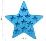 Eco-Friendly прессформа силикона кубика льда пятиконечной звезды качества еды