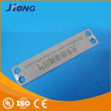 Plaque de borne de 304 de qualité câbles d'inscription