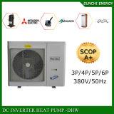 一体鋳造冬のEviの空気ヒートポンプの床暖房の給湯装置25cで動作するHeat100~350sqのメートルHouse12kw/19kw/35kwの自動霜を取り除きなさい