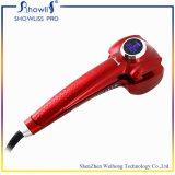 O ferro de ondulação automático o mais novo do cabelo com indicador do LCD