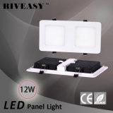 luz de la parrilla del panel de 12W LED con el Ce y RoHS 2*1