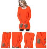 Orange Farben-Frauen wärmen Strickjacke