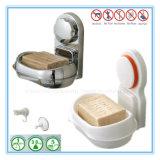 Organisateur de support d'assiettes de savon pour la salle de bains avec la cuvette d'aspiration