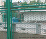 Face de filet soudée galvanisée électrique de frontière de sécurité de maillon de chaîne de treillis métallique