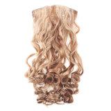 Clip sintetizado al por mayor de Extenson de la peluca del pelo de Kanekalon en resistencia térmica del pedazo del pelo de Volumizer