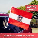 旗竿が付いている印刷ポリエステルWindows車のフラグ