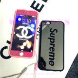 Caixa personalizada do telefone móvel da superfície do espelho com a cinta para iPhone6/6plus