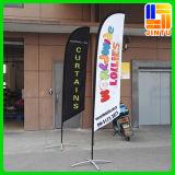 La Cina poco costosa su ordinazione ha fatto il Convex della bandierina di spiaggia - le bandierine di spiaggia (JTAMY-2015120904)
