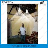 실내 옥외를 위한 2 Bulbs&Mobile 전화 충전기를 가진 Rechargeble 태양 에너지 조명 시설