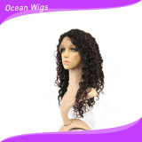 Do cabelo brasileiro do Virgin do cabelo 20inch de Quercy onda profunda cheia natural do cabelo humano da peruca do laço (HW-036)