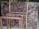 Colore rosso di marmo di Rosso Levanto della lastra, mattonelle, controsoffitto