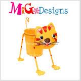 新式の方法美しい猫の金属動物プランター鍋の庭の装飾