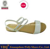 Polly calza la sandalia de los zapatos ocasionales de las mujeres