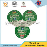 Grabado en relieve del papel de aluminio Tapa para termosellado yogur taza plástica
