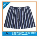 Woven Cotton Boxers Short Underwearwith Strip Design Partern