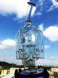 Hbkinghoney 16inch 60 Rokende Waterpijpen van het Glas van de Douche van Birdcage van de Honingraat van de Diameter 5thickness de Grotere