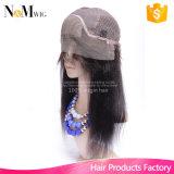インドのYakiの毛のかつらの価格100%の最もよく自然な見るかつらによって漂白される結び目の安い良質のかつら130%の密度の絹のかつらの帽子
