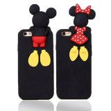 Caja encantadora del teléfono del silicón de Mickey Minnie para la caja del teléfono móvil de la leva de la potencia X del estilo X de Huawei P8 P9 LG X (XSD-028)