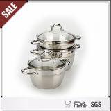 Nuevo sistema del Cookware de Ecoramic del acero inoxidable del artículo