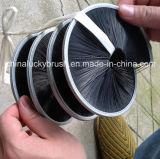 Spazzola materiale di nylon nera del nastro della cordicella (YY-177)