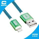 케이블 직물 Mfi 증명서를 가진 땋는 USB 케이블